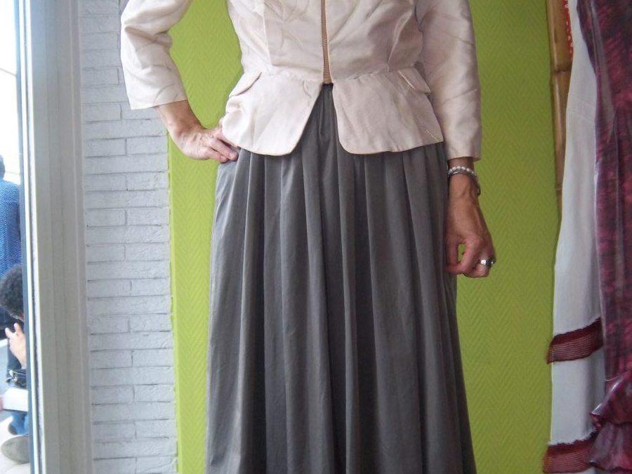 Création d'une veste en soie sauvage