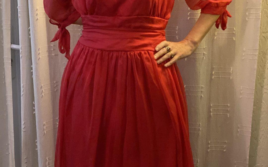 Création d'une robe pour un mariage