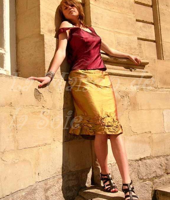 Création d'une jupe en soie